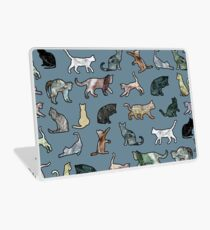 Cats shaped Marble - Steel Teal Blue Laptop Skin