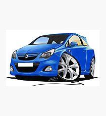 Vauxhall Corsa VXR (Facelift) Blue Photographic Print