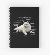 Samoyed Anatomy Spiral Notebook