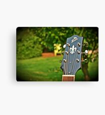 The Loar Guitar Headstock Scenery Canvas Print