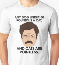Ron Swanson - Cats Are Pointless T-Shirt