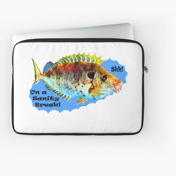 On a Fishing Break Laptop Sleeve