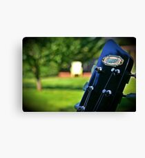 Supro Guitar Headstock Scenery Canvas Print