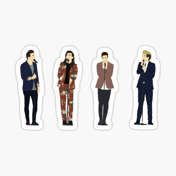 One Direction 9 (without font) Sticker
