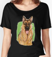 The German Shepherd behind the scenes Women's Relaxed Fit T-Shirt
