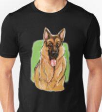 The German Shepherd behind the scenes Unisex T-Shirt