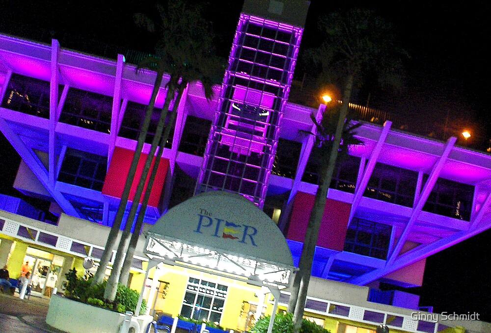 Purple Pier by Ginny Schmidt