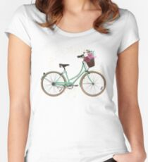 Arboreal Bicycle Women's Fitted Scoop T-Shirt