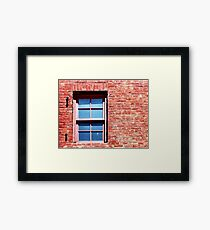 Red Brick Window Framed Print