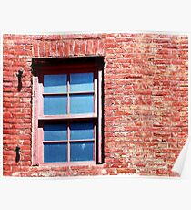 Red Brick Window Poster