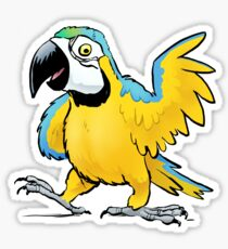 Colorful Cartoon Macaw Parrot Design Sticker