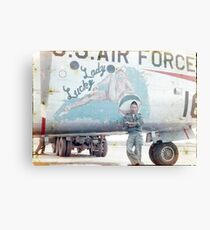 NOSE ART, UNITED STATES AIR FORCE, HUNTER AIR FORCE BASE Canvas Print