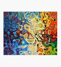 Abstract Marbling  Photographic Print