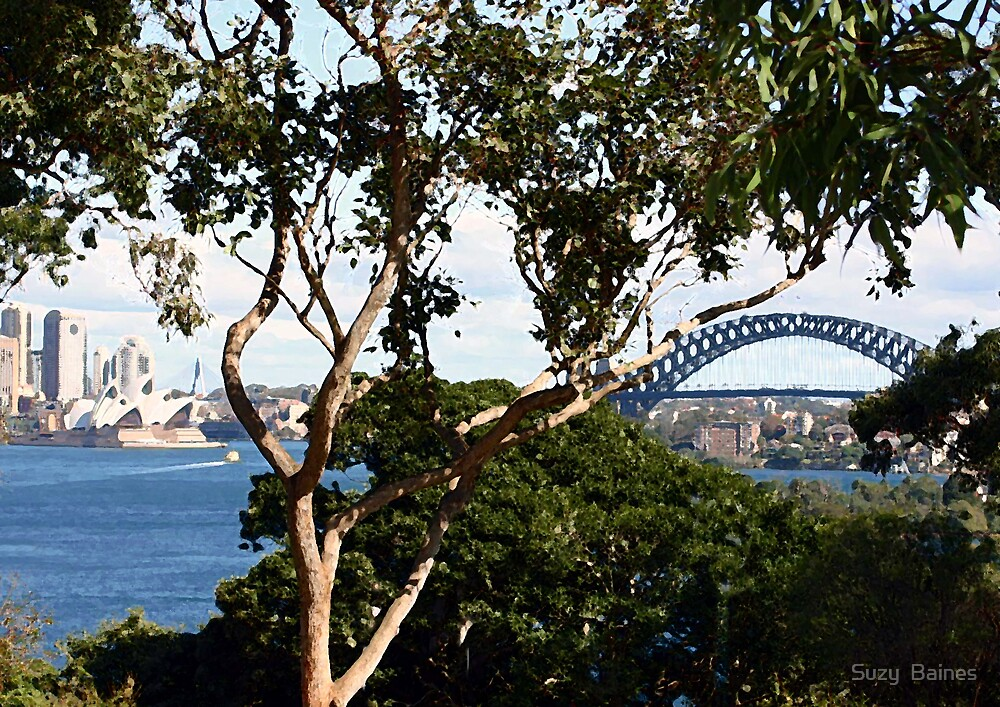 Opera House and Sydney Harbour Bridge by Suzy  Baines