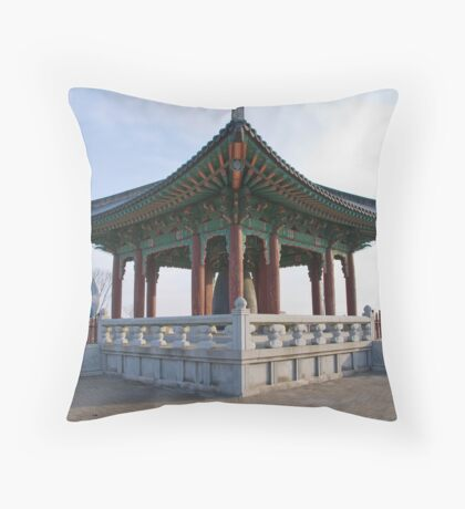 """Freedom Bell"" - Korean DMZ Throw Pillow"