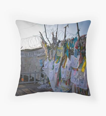 """Freedom Bridge"" - Korean DMZ Throw Pillow"