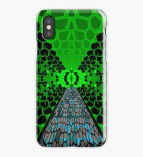 Sci-Fi Tunnel - Green iPhone Case/Skin
