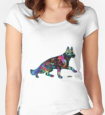 German Shepherds fill our life with Color Women's Fitted Scoop T-Shirt