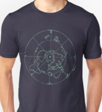 Azimuthal Equidistant Map Zetetic Astronomy Flat Earth Map,  T-Shirt
