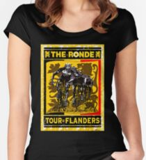 TOUR OF FLANDERS: Vintage Bicycle Racing Print Women's Fitted Scoop T-Shirt
