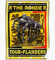 TOUR OF FLANDERS: Vintage Bicycle Racing Print Poster
