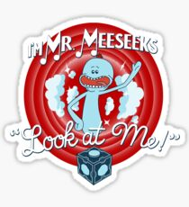 Merrie Mr. Meeseeks - shirt Sticker
