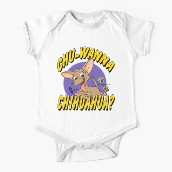 chihuahua? Short Sleeve Baby One-Piece