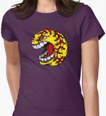 Tshirt Fire Baseball Hungry Womens Fitted T-Shirt