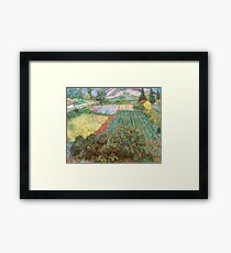 Field with Poppies by Vincent van Gogh Framed Print