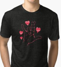 American Sign Language -I love you very much Tri-blend T-Shirt