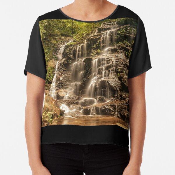 Sylvia Falls - Blue Mountains, Australia Chiffon Top