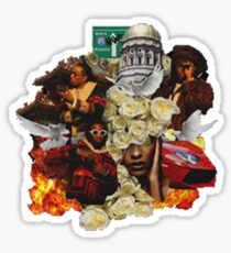migos culture cut out Sticker