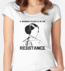 Princess Leia Resist Women's Fitted Scoop T-Shirt
