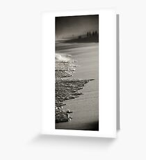 Segment-Details of the Australian Shoreline. Bar Beach,Newcastle Greeting Card