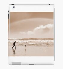 one man a rainbow and his dog iPad Case/Skin