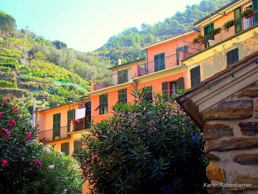 Flats in Cinque Terre  by Karen Ashenberner
