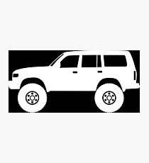 Lifted 4x4 offroader - for Toyota Land Cruiser J80 (1990–1997) enthusiasts Photographic Print