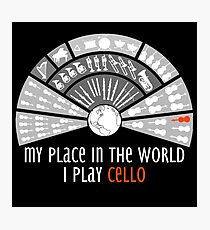 My place in the world: I play cello Photographic Print