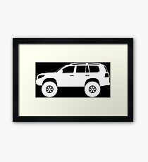 Lifted 4x4 offroader - for Toyota Toyota Land Cruiser J200 (2008-)enthusiasts Framed Print