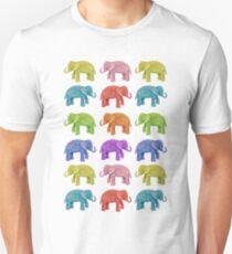 Parade of Rainbow Elephants T-Shirt