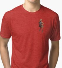 defiant girl, fearless girl statue on Wall Street, NY Tri-blend T-Shirt