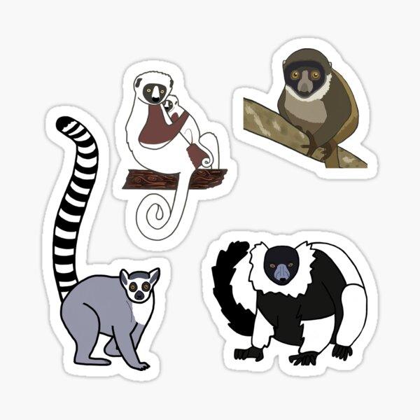 Lemurs - Mini Sticker Pack TWO Sticker