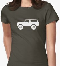 Lifted 4x4 offroader - for Ford Bronco (1978, 1979) offroad classic enthusiasts (version 1) Womens Fitted T-Shirt
