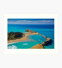 White lighthouse, location - Castlepoint, New Zealand Art Print