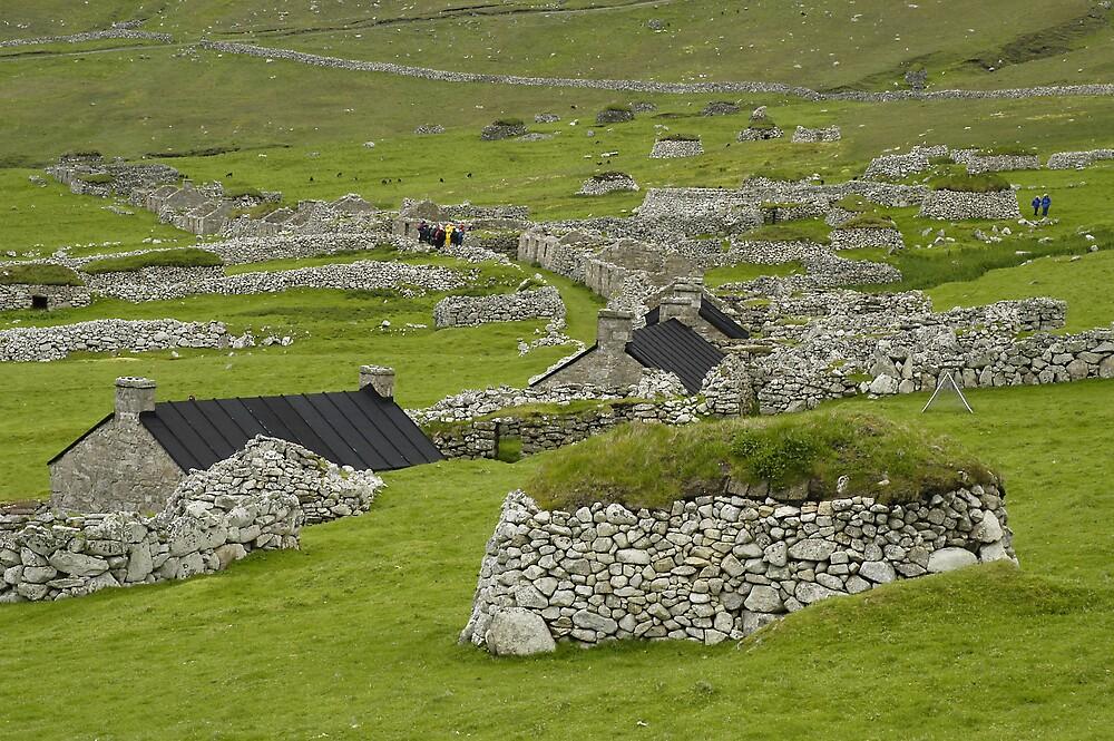 St Kilda, Village Bay, dwellings by JimWhitham