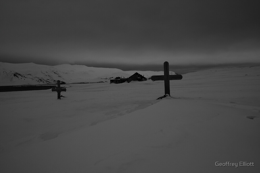 Deception Island Cemetery by Geoffrey Elliott