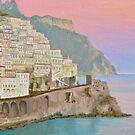 Amalfi Village at Dusk by Dai Wynn