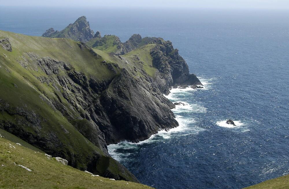 Sea and rock, St Kilda by JimWhitham