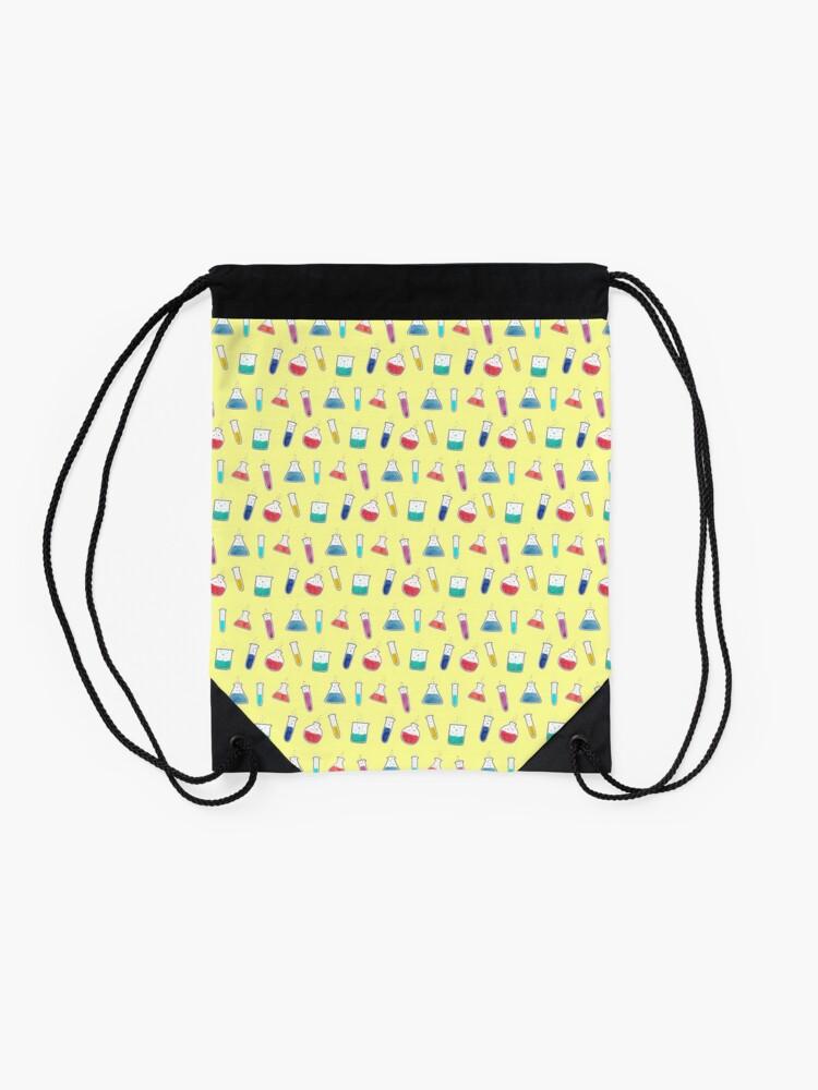 Alternate view of Good Chemistry - Light Background Drawstring Bag