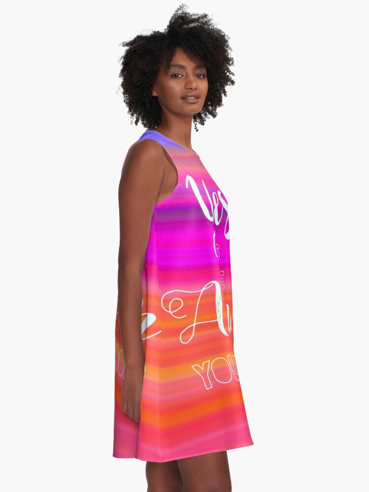 Alternate view of Yes is the Answer A-Line Dress